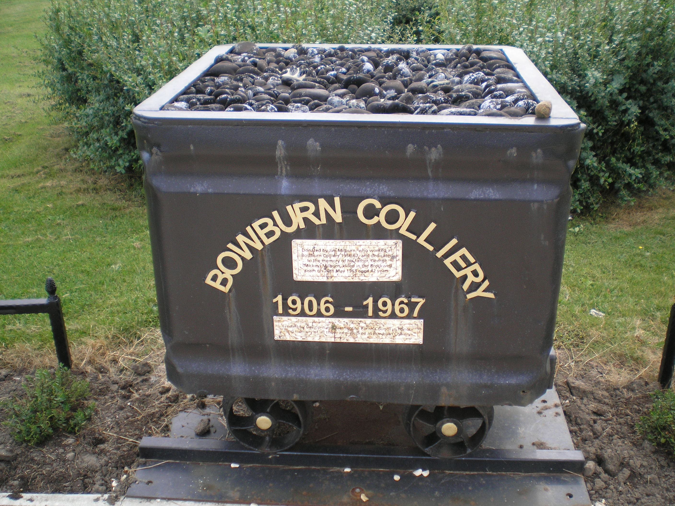 Bowburn Colliery Tub